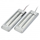 Decorative Car 2W 7000-7500K White LED Light with Self-Adhesive Tape - Silver (DC 12V / Pair)