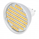 GU5.3 3.5W 3500K 240-Lumen 60-LED Warm White Light Bulb (DC 12V)