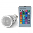 3W E27 1-LED RGB Light Bulb with Remote Controller (1x CR2025)