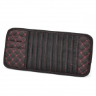 PU Leather Car Sun Visor CD / DVD Holder - Black + Red