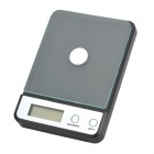 "1.9"" LCD Digital Electronic Kitchen Scale - Black (Max. 5kg / 2 x AAA)"
