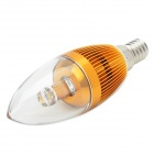 E14 3W 3000~3500K 220~300LM Warm Light LED Bulb (85~245V)