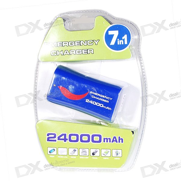 """24000mAh"" External Rechargeable USB Battery Pack for PSP/NDS/DS Lite/GBA/MP3/MP4/PDA"
