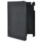 Protective 360 Degree Rotational PU Leather Case + 4400mAh Rechargeable Battery for Ipad2 (Black)