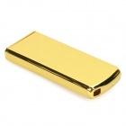 Stylish Zinc Alloy Butane Lighter with Slide Switch - Golden