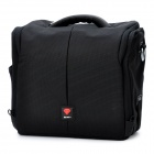 Protective Ruby Nylon Single-shoulder Waterproof Bag for SLR Camera - Black