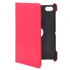 Protective 360 Degree Rotation PU Leather Case for Samsung P6220 - Red