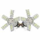 1157 / S25 / BA15D 3W 6500K 180-Lumen 40-3528 SMD LED White Light Car Braking Lamps (DC 12V / Pair)