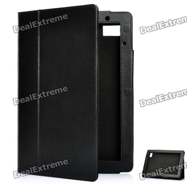 Stylish Protective PU Leather Case for Acer Iconia Tab A500 - Black hot ac power charger for acer iconia tab a500 a100 100 240v eu plug