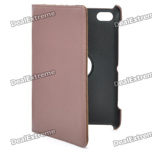 Protective 360 Degree Rotation PU Leather Case for Samsung P6220 - Brown protective 360 degree rotation pu leather case for samsung p6220 brown