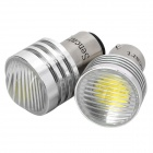 1142 3W 6500K 280-Lumen 1-LED White Light Car Braking / Turning / Reversing Lamps (DC 12V / Pair)