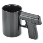 Cool Gun Style Ceramic Whiteware Mug Cup - Black (350ml)