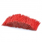 Double-Ended Tinned Breadboard 5 Core Jumper Cable Wires - Red (1000-Piece / 40mm)