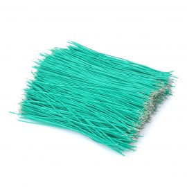 Double-Ended Tinned Breadboard 5 Core Jumper Cable Wires - Green (1000-Piece / 100mm)