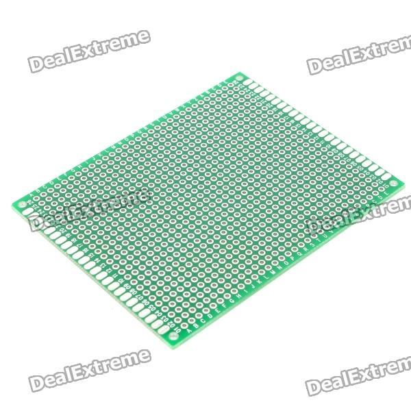 Double-Sided Glass Fiber Prototyping PCB Universal Board (7 x 9) double sided glass fiber prototyping pcb universal board 5 pack