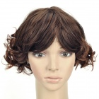 Fashion Short Curly Hair Wigs - Brown