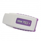 Worldwide Internet TV / Radio Stations Player USB Dongle - White + Purple