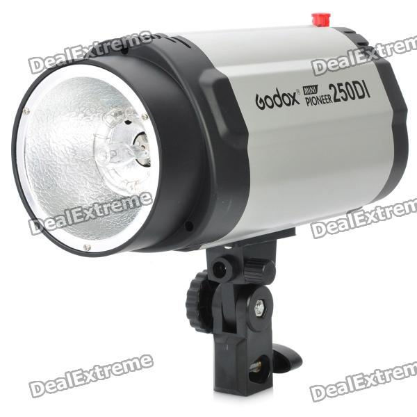 Godox Mini pionjär 250DI 250WS Flash Studio fotografering Light - Grey (AC 220V / 3-platt-polig plugg)