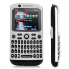 "Q99 GSM Bar Phone w/ 2.0"" TFT, Quad-Band, TV, FM - Black + Silver"