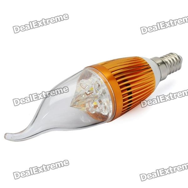 E14 4W 3500K 360-Lumen 4-LED Warm White Light Bulb (AC 85~265V) lexing e14 7w 540lm 14 smd 5730 led warm white light bulb ac 85 265v