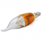 E14 4W 3500K 360-Lumen 4-LED Warm White Light Bulb (AC 85~265V)