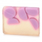 Handmade Natural Soap Bar - Transparent + Purple (Grape Scent)