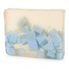 Handmade Natural Soap Bar - Transparent + Light Blue (Blueberry Scent)