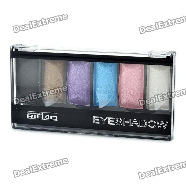 Fashion Magic Cosmetic Makeup 6-Color Eye Shadow with Smudger