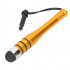 Aluminum Alloy Capacitive Screen Stylus w/ Pentalobe Screwdriver / Anti-Dust Plug - Golden