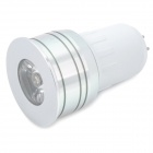 GU5.3 3W 180LM 6500-7000K Белый 1-LED Spot Light Bulb - Silver (AC 85 ~ 265V)