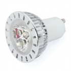 GU10 3W 7000K 220-Lumen 3-LED White Light Bulb (AC 220V)