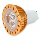 GU10 3W 3800K 220-Lumen 3-LED Warm White Light Bulb (AC 220V)
