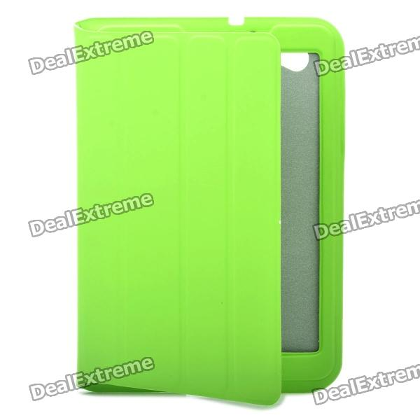 Protective PU Leather Case for Samsung Galaxy P6800 - Green