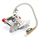 Folding Portable Stainless Steel Outdoor Camping Butane Gas Stove - Silver