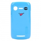 NILLKIN Cute Smile Expression Protective PC Back Case w/ Screen Guard for Lenovo Lephone A500 - Blue