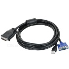 DVI-30+5 to VGA+USB Cable / DVI-VGA Convertor (1.65m Length)