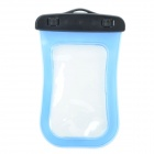Universal Waterproof Bag with Strap for iPhone / Cell Phone - Transparent Blue