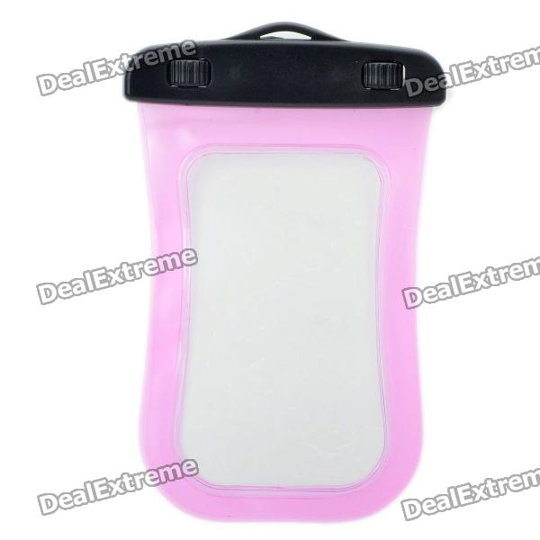 Universal Waterproof Bag with Strap for Iphone / Cell Phone - Transparent Pink