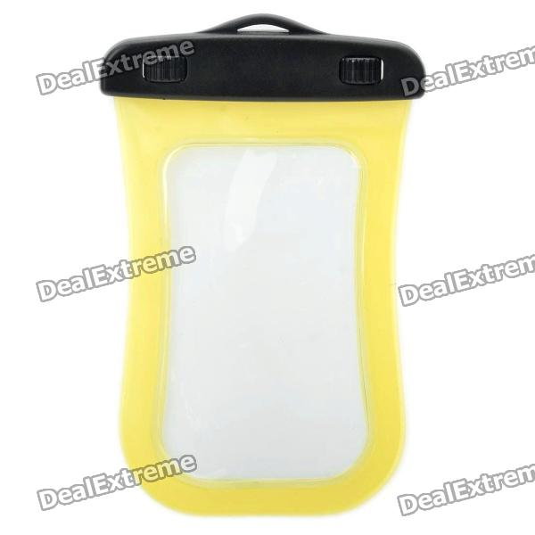 Universal Waterproof Bag with Strap for Iphone / Cell Phone - Transparent Yellow