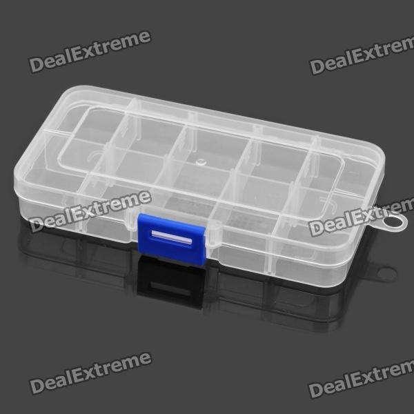 10-Section Plastic Storage Box for Electronic Components / Small Gadgets spark storage bag portable carrying case storage box for spark drone accessories can put remote control battery and other parts