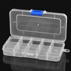 10-Section Plastic Storage Box for Electronic Components / Small Gadgets