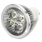 GU10 4W 320-360LM 6000-6500K White 4-LED Spot Light Bulb - Silver (85~265V)