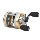 HAIBO ANOMALA 3-Bearing Bait Caster Fishing Reel - Silver + Champagne (5.5 : 1)