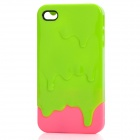 Novelty Ice Cream Style Protective ABS Back Case for iPhone 4 / 4S - Green