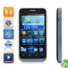 "ZTE V889D Android V2.3 WCDMA Bar Phone w/ 4.0"" Capacitive, GPS, Dual-SIM and Wi-Fi - Black"