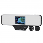 "3.5"" TFT LCD Rearview Mirror Car DVR + 5MP CMOS 180°Swivel Dual Night Vision Camera"