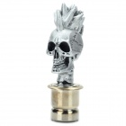 Cool Skull Heads Car Cigarette Lighter - Silver