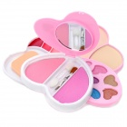 Charming Cosmetic Eye Shadow + Blusher + Lipstick + Powder + Puff + Mirror Make-Up Kit