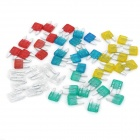 10A / 15A / 20A / 25A / 30A Blade Fuses Set for Car Vehicle (50-Piece Pack / Size S)