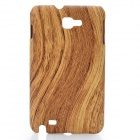 Protective Wood Grain Pattern ABS Back Case for Samsung Galaxy Note i9220 - Wood Color